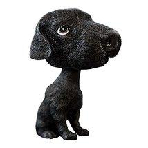 PANDA SUPERSTORE [Black Labrador] Bobbleheads Car Ornaments Resin Car Decoration