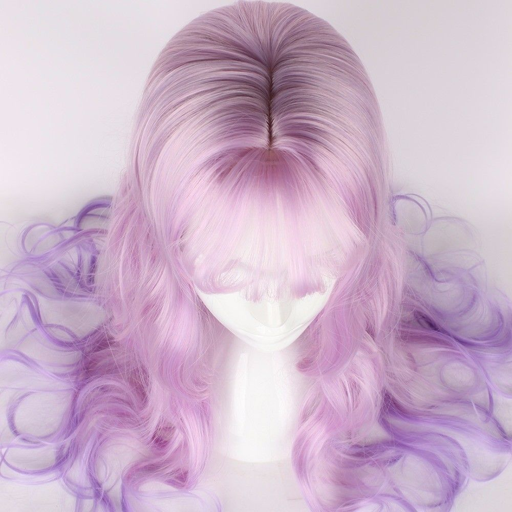 """Long Wavy Cosplay Party Women's Hair Wigs Lolita Pastel Synthetic 65CM 25.59"""""""