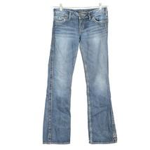 "Silver Frances 18"" Distressed Dark Wash Boot Cut Jeans Womens 27 27x30 - $29.57"