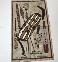 Port Douglas QLD Aboriginal Hunting Ceremonial Linen Tea Towel Australia - $15.83