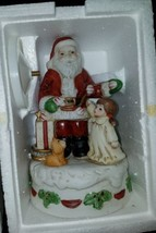 Home Interior Homco 5256 Santa Music Box Christmas Figurine Decoration  - $9.89