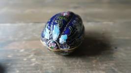 """Vintage 3"""" Nut Blue Cloisonne Trinket Jar - $39.59"""