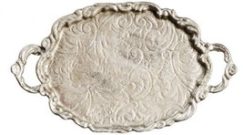 Dollhouse Miniatures Ornate Silver Serving Platter #TIN4099 - $4.99