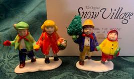 Set/2 Department Dept 56 Original Snow Village THROUGH THE WOODS #51721 ... - $11.53