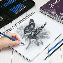 Glokers 33-Piece Drawing Art Set - Drawing Sketch Pad, Shading Pencils, Professi image 4