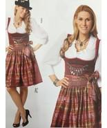Burda Sewing Pattern 7443 Misses Ladies Dirndl Dress Size 10-24 New - $13.43