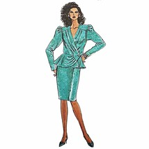 Misses Dress Simplicity 9912 Sewing Pattern Vintage 1990 Size 16-24 c2540 - $12.99