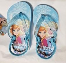 NEW Girls Baby or Toddler Disney Frozen Flip Flops Size 5/6 7/8 9/10 or 11/12 - $9.99