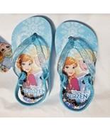 NEW Girls Baby or Toddler Disney Frozen Flip Flops Size 5/6 7/8 9/10 or ... - $9.99