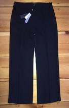 TALBOTS NWT Casual Career Dress Pants Wide Leg Loose Fit Black Sz 2 Peti... - $39.99