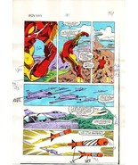 Original 1984 Invincible Iron Man 181 page 14 Marvel Comics color guide ... - $69.29