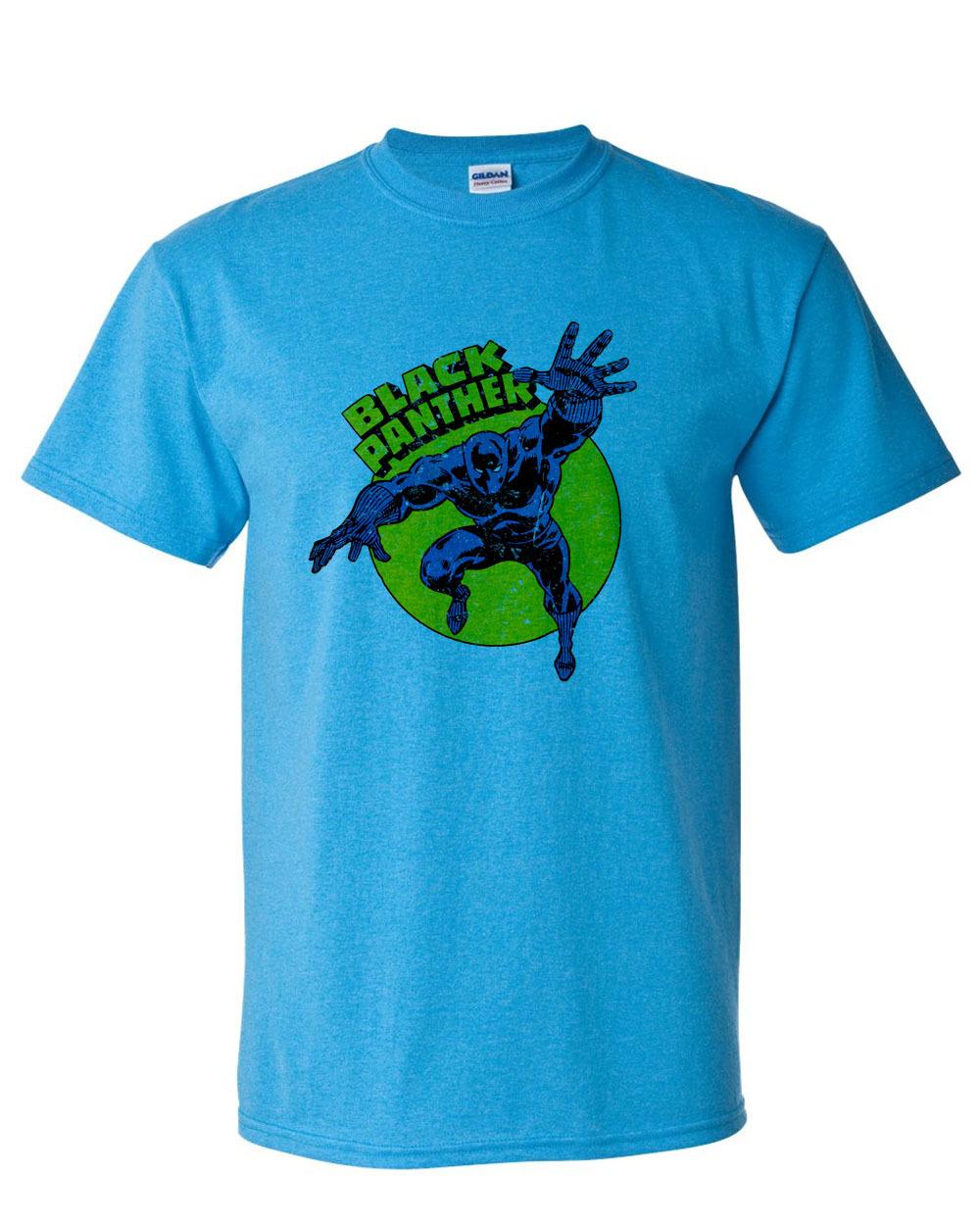 Black panther t shirt retro marvel comic book superhero for T shirt graphics for sale