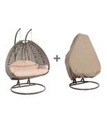 2 Person Heavy Duty Rattan Hammock Hanging Wicker Porch Swing Chair - $969.98