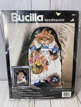 Bucilla Needlepoint Blossom Picture or Pillow Rabbit Garden Rosssi New 4674 1993 - $32.90