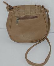 Non Branded Womens Tan Zipper Saddle Bag Purse With Adjustable Shoulder Strap image 3