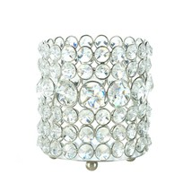 Decorative Glass Candle Holders, Elegant Crystal Modern Round Glass Cand... - $30.39
