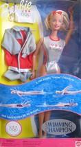 Barbie Swimming Champion US Olympic Team Doll #24590 New NRFP 1999 Mattel - $45.02