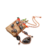 Old color chain necklace geometric resin pendant jewelry collier femme maxi necklace 3 thumbtall