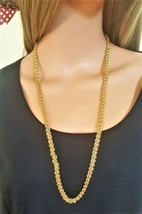VINTAGE SIGNED GOLD TONE LONG CHAIN BY PREVIEW - $6.00