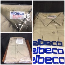 NEW Elbeco Tex-Trop Perma Press Uniform Shirt Size 46 S Short Sleeve Tan - $14.99