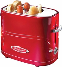 Hot Dog Toaster-Pop-Up 2 Hot Dogs and Buns -Great tasting hot dogs-Red - £19.33 GBP