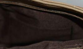 Non Branded Womens Tan Zipper Saddle Bag Purse With Adjustable Shoulder Strap image 7