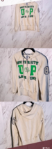 VICTORIAS SECRET LOVE PINK full zip hoodie university cream white appliq... - $21.17