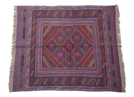 Wool Oriental Design Genuine Ehtnical Made By Hand Rug 4' X 4' Baluch - $78.91