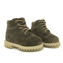 "Timberland Toddler's 6"" Premium Dark Green Suede Boots A1BM2 LIMITED REL... - $49.99"