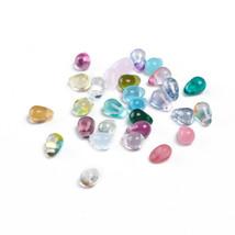 10 Teardrop Beads Czech Assorted Purple Mermaid Tears Jewelry Supplies 6mm - $3.80