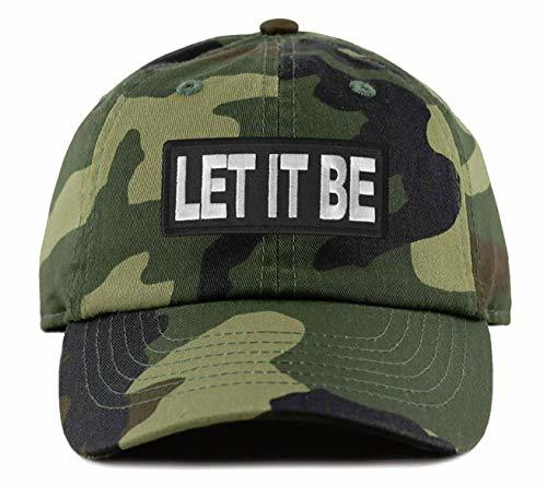 Let It Be Hat - Adjustable Strapback Dad Cap Style (Camo)