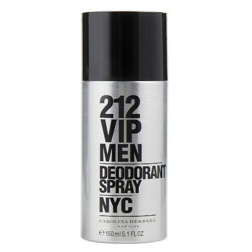 CAROLINA HERRERA 212 VIP MEN DEODORANT SPRAY 150 ML/5.1 FL.OZ. NEW