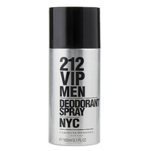 CAROLINA HERRERA 212 VIP MEN DEODORANT SPRAY 150 ML/5.1 FL.OZ. NEW - $34.16