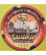 $5 Casino Chip, Sahara, Las Vegas, NV. 1996. Q99. - $5.95