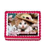 Kitten Cat party edible cake topper frosting sheet - $7.80
