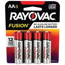 RAYOVAC 815-8TFUSK FUSION Advanced Alkaline AA Batteries, 8 pk - $26.27