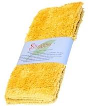 "Janey Lynn Designs Cornbread Yellow Shaggies 10"" x 10"" Cotton Chenille W... - $7.49"