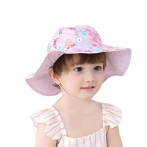 Kid Baby Sun Hat Toddler UPF 50+ Sun Protective Wide Brim Bucket Hat Bow... - $16.00