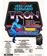 Tron / Bally Family Amusement Centers, 1981 Promotional Poster Stand-Up ... - $16.99