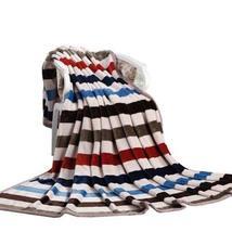 Panda Superstore Flannel Blanket Thick Warm Woolen Blanket COLOR STRIP(150 by 20