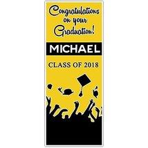 Class of 2018 Graduation Door Banner Black and Yellow Backdrop - £24.38 GBP