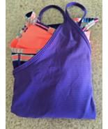 Girls Ivivva Lululemon Built In Double Tank Top Purple/Print (7) - $23.38