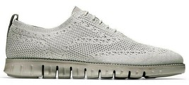 COLE HAAN ZEROGRAND WINGTIP OXFORD WITH STITCHLITE GREY SIZE 10 NEW (C26... - $117.55