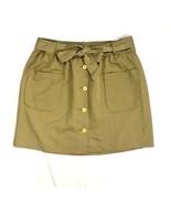 TOMMY HILFIGER Classic Khaki Cotton Belted Safari A Line Apron Skirt Sz ... - $9.89