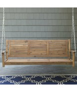 Traditional Wood Slatted Outdoor 5 Foot Porch Swing Garden Patio Furniture - $229.92