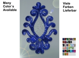 appliques sequins applikationen pailletten sew on embroidery handmade ap68 - $4.99
