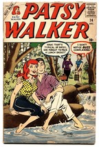 Patsy Walker #74 Comic Book 1957-MARVEL-HEADLIGHT COVER-SPICY - $36.01