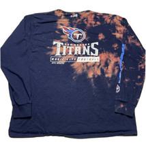 NFL Apparel Tennessee Titans Mens XL Acid Wash Bleach Dye Long Sleeve T ... - $34.58