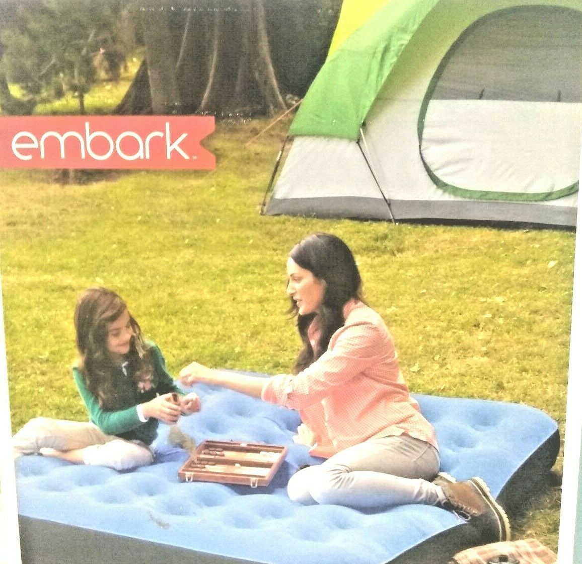 Embark Queen Air Bed Mattress w/ Electric Pump 8.5in-height Camping Inflatable