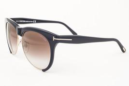 Tom Ford Leona Black / Brown Gradient Sunglasses TF365 01G - $165.62